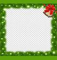 realistic fir-tree sparkling border frame with vector image