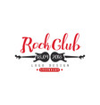 rock club logo 18 april 2018 design element vector image vector image