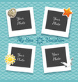 sea vacation photo collage vector image vector image