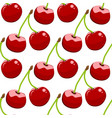 seamless background cherry on a white background vector image vector image
