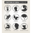 set of icons symptoms Ebola virus vector image vector image