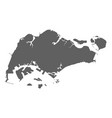 singapore blank map vector image
