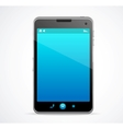 Smart Phone With blue screen vector image