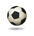 Soccer ball icon white and black color vector image