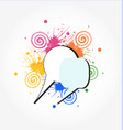 speech bubbles colored concept icon vector image