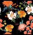 spring orange blossom floral seamless pattern vector image vector image