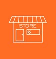 store icon in flat style shop symbol vector image