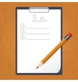 Tablet with List of doing and the pencil vector image vector image