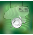 The restaurant menu template with frame vector image vector image