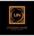 un letter initial with royal luxury logo template vector image vector image