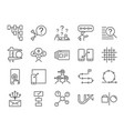 ux icon set vector image vector image