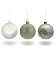 white christmas ball set vector image vector image