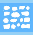 white speech bubbles thinking balloon talks vector image vector image