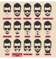with men beard collection vector image vector image