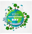 world environment day background for symbols on cl vector image