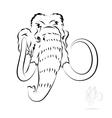 stylized mammoth head vector image
