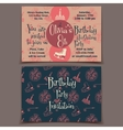 Ice skating birthday party invitation cards vector image