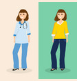 woman doctor in ordinary life flat design vector image