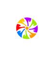 abstract circle logo template vector image vector image