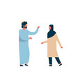 arab couple standing together communication vector image vector image
