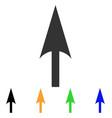 arrow axis y icon vector image vector image