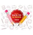 back to school crayons supplies realistic vector image vector image