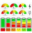 battery charge level indicators vector image