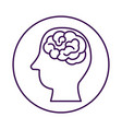 brain storming with head profile vector image