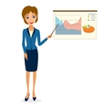 Business woman character vector image