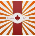 Canada Day national Emblem with red Ribbon vector image vector image