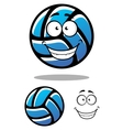 Cartoon blue volleyball ball character vector image vector image