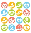 Charity and donation icons white vector image vector image