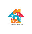 community home logo design vector image vector image