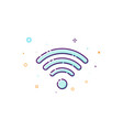 concept wifi icon of wireless access point thin vector image vector image