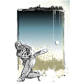cricket poster background vector image vector image