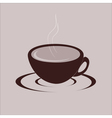 Cup of hot drink vector image vector image