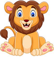 cute baby lion cartoon vector image vector image