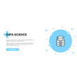 data science icon banner outline template concept vector image