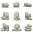 Design stone element set of vector image