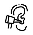 ear check icon outline vector image vector image