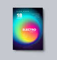 electro dj party flyer vector image