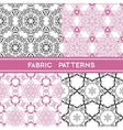 Fabric Patterns vector image vector image
