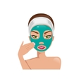 Female face with a mask vector image vector image