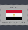 Flag egypt sign and icon postage stamp