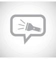 Flashlight grey message icon vector image vector image