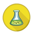 Flask Tube flat icon vector image