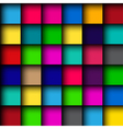 Glossy color mosaic pattern vector image vector image