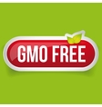 GMO free icon button vector image vector image
