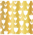 gold foil tulip flower seamless pattern vector image vector image