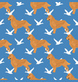 golden retriever dog seamless pattern vector image vector image